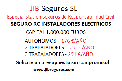 Seguro de responsabilidad civil electricidad